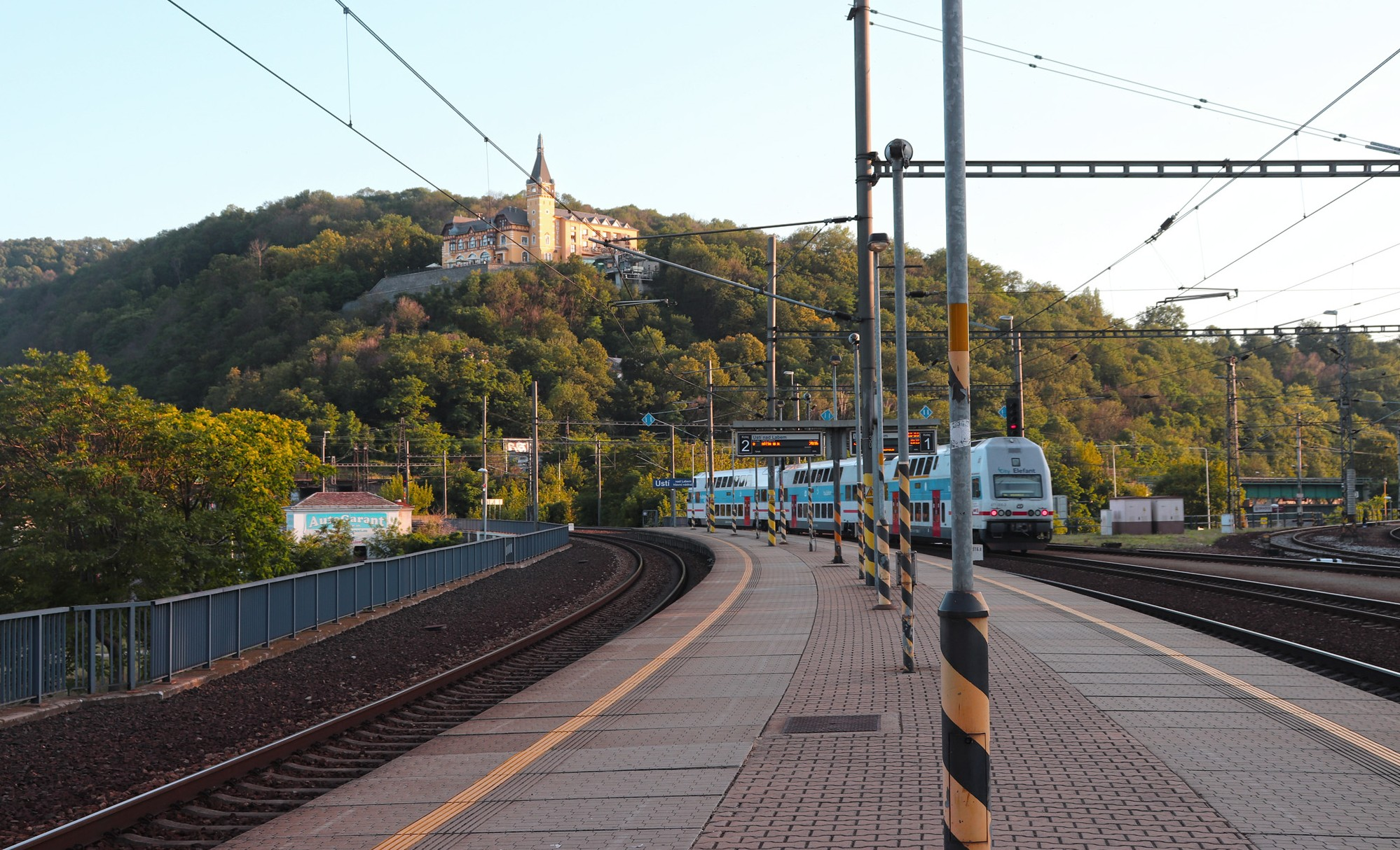 nádraží v Ústí nad Labem