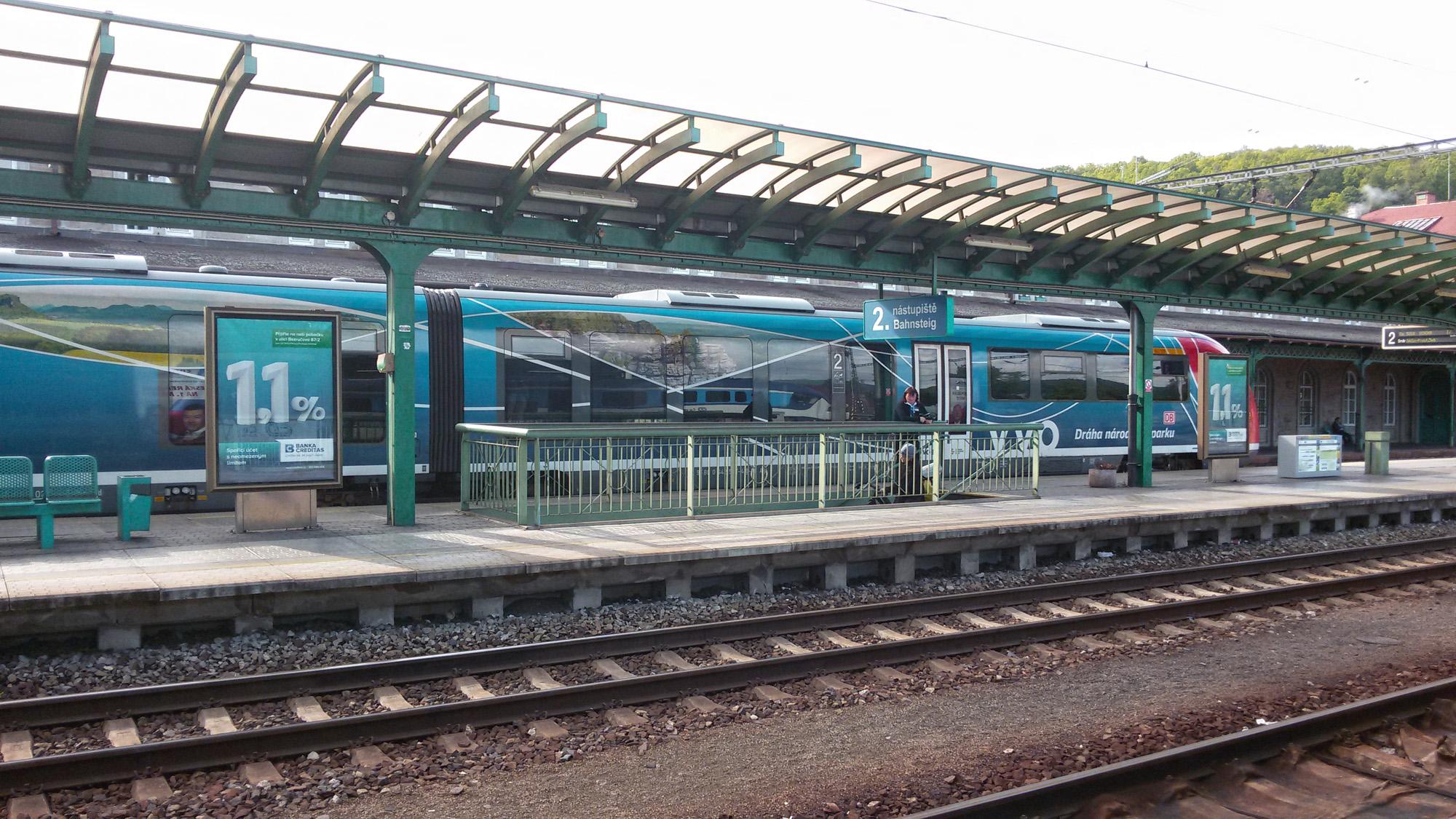 Moderní vlaky severních Čech